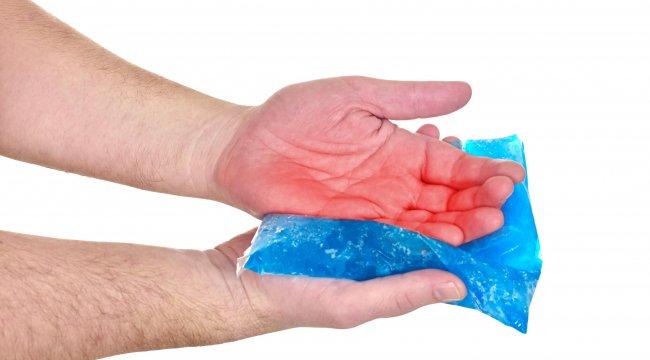 El yaralanmalarında sakın buz kullanmayın